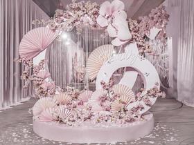粉色唯美工艺,纯手工打造,唯美花艺婚礼