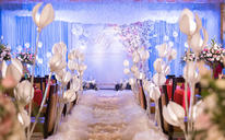 汇爱婚礼——蓝白经典《纯》酒店婚礼布置
