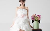 短款婚纱礼服EMOON WEDDING 藤井莉娜