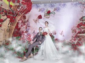 【红馆婚庆】新年特惠 玫瑰花开 婚礼鲜花布置