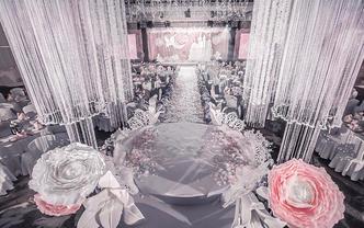 【丽芙】限时特惠 手工花流苏吊顶粉色梦幻城堡婚礼