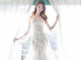 韩国品牌婚纱SPOENSHA系列--白色嫁衣