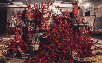 【晶品studio】中国传统红色风格主题甜品台
