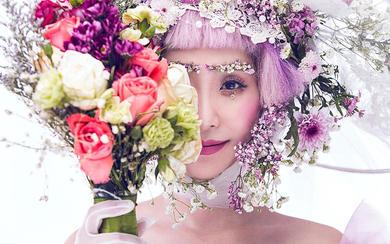 【薇拉】这种明媚的妆容配上花朵, 简直不要太迷人