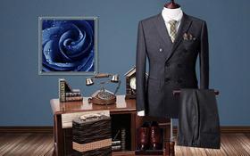 苏色定制 | 双排扣竖纹套西系列