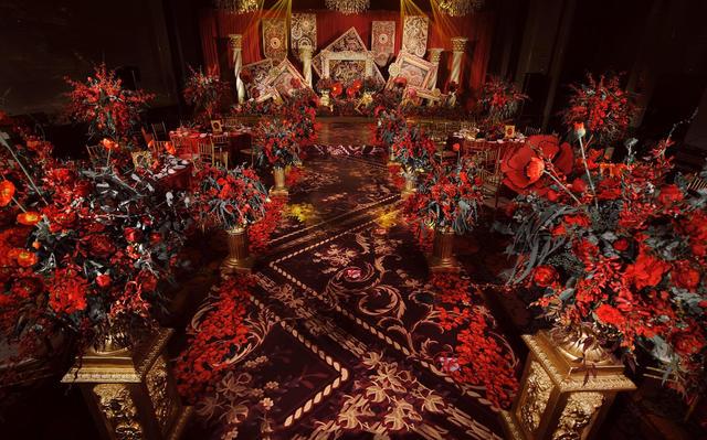 橙果婚礼~欧式复古风,红金色系