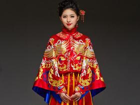 华芬嫁衣 佟丽娅大婚新娘礼服 中式婚礼服 秀禾服