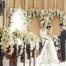 冬季北京婚纱照拍摄 教堂花墙唯美婚纱照