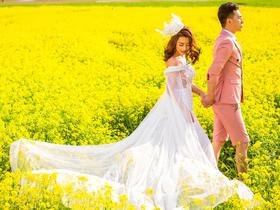 聚焦摄影:小清新公园婚纱照