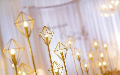 唯爱金色铁艺复古风主题婚礼(蔓锐婚庆)