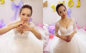 大气范的新娘,简单大方的造型最适合不过了