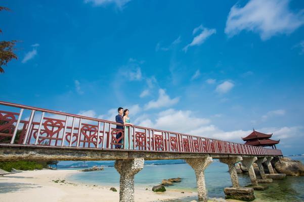 三亚米娅婚纱摄影《中国马尔代夫蜈支洲岛拍摄》