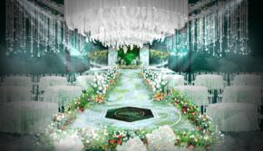 莫妮卡婚礼 白绿金婚礼套餐
