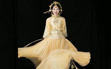 LD[凤羽]异域贴花刺绣秀禾服