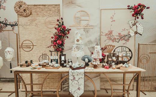 【爱 · 沐婚礼】新中式户外婚礼 香槟金红色系