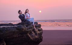 涠洲岛主题婚纱照《掠影浮落日》