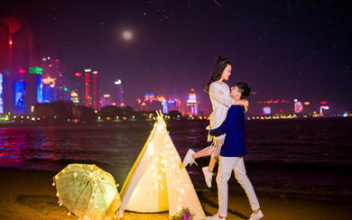 蜜恋新概念婚纱摄影  旅拍夜景系列