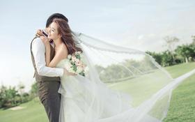 轻轻飘纱缭绕    结婚最美婚照拍摄季