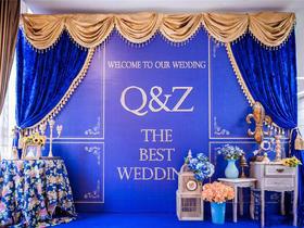 蓝色主题婚礼布置