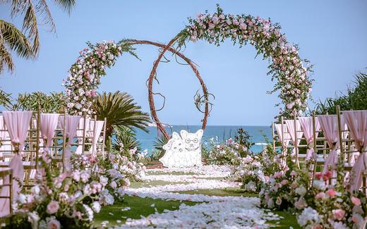 【Pink】亚龙湾喜来登草坪婚礼 糖果海外婚礼