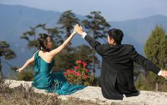 乐惟海外婚礼重庆店,不丹高僧祈福婚礼之二