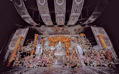 带你穿越到罗马复古婚礼  落日圣殿