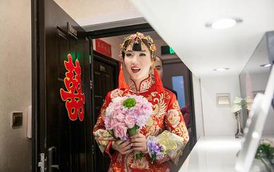 安吉莉娜秀禾服婚礼现场照