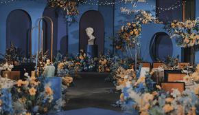 【豫上】小型婚礼之选 静谧蓝婚礼+总监摄影