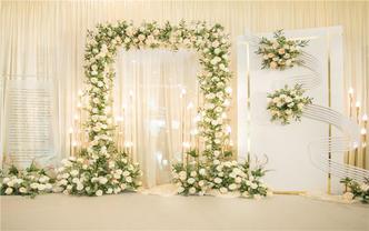 香槟金韩式浪漫婚礼布置