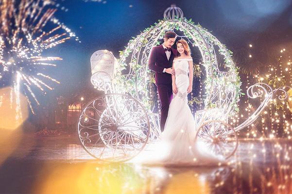 永恒美蜜月旅拍【三亚站】夜景主题 南瓜车 月亮光