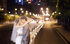 杭州个性时尚婚纱摄影 来组夜景吧!