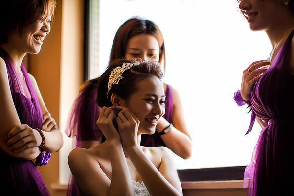 4.17婚礼,第一次碰到短发新娘,超美