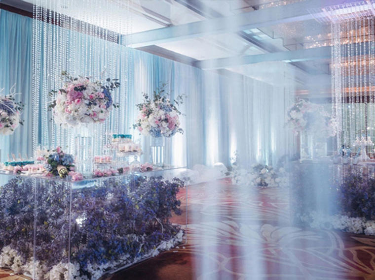 【婚礼秀】好缘婚尚:优雅静谧蓝打造时尚婚礼