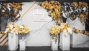 【玩味撞色】小型婚礼之选 气球花艺全包 送四大