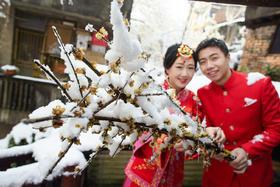 【吆柒婚礼跟拍】雪中的下浩老街