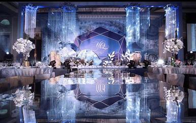 蓝宝石融入梦幻星系主题婚礼(含四大金刚)