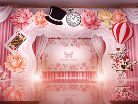 梦幻粉主题婚礼【筑梦先生】爱丽丝梦游仙境,仙气十足