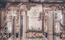 【US案例】香槟色鲜花质感婚礼案例