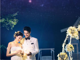 高端情景定制——夜景婚纱照