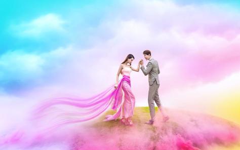 娱印象婚纱摄影  你与网红之间只差一套婚纱照