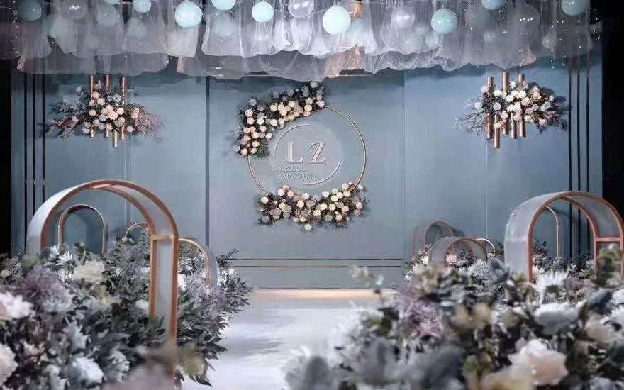 【倾城婚礼定制】---蓝色极简风主题婚礼