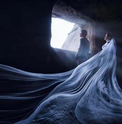 韩式海景婚纱照