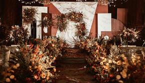 手牵手婚礼 | 勃艮第红西式婚礼,精致现场