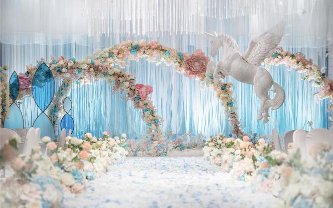【恪洛思婚礼】冰蓝色梦幻婚礼