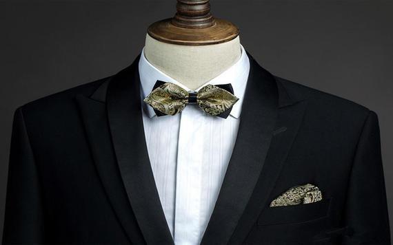 【Busen新郎西服西装定制】黑色礼服经典西装