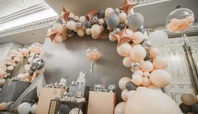 派对日记超值宝宝灰色主题生日宴
