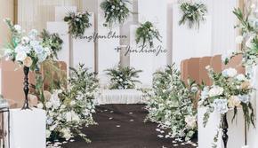 【誉璞婚礼】友谊国际酒店二楼|室内白绿小清新婚礼