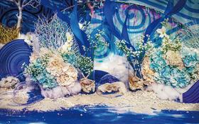 蓝色大海的传说--珍妮罗曼海洋风婚礼实景呈现