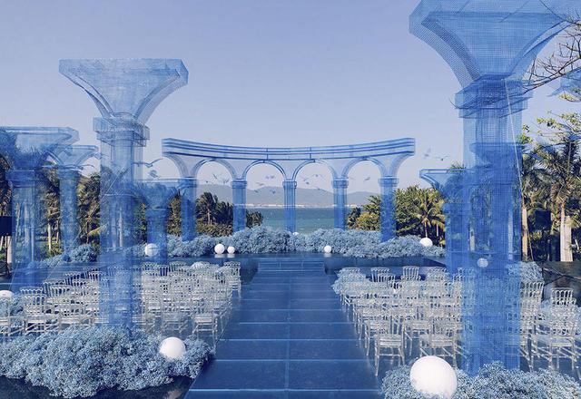 三亚水台婚礼 | 一个关于蓝色大海的传说