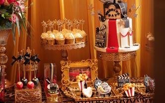 Oscar奥斯卡主题婚礼甜品台